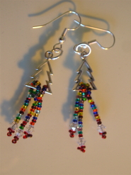 earrings with sterling silver and Swarovski crystals